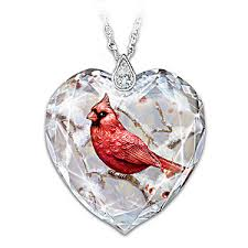 crystal heart necklace images Messenger from heaven womens cardinal pendant necklace 0,0,0
