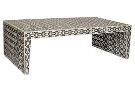 one kings lane table malin coffee table charcoal white get it fast one kings lane