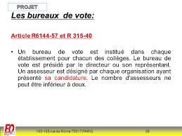 assesseur bureau de vote elections cte 2011 construire les listes de candidats ppt