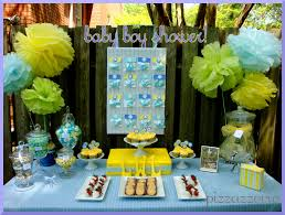 blue baby shower decorations blue yellow baby shower pizzazzerie