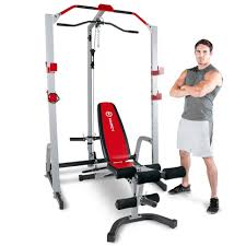Power Bench Marcy Md 8851r Deluxe Power Rack U0026 Weight Bench At Purefitness