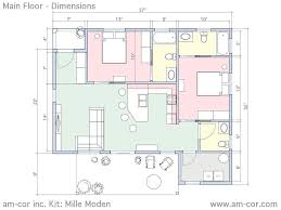 dimensioned floor plan the mille moden am u2011cor inc ferrocement construction systems