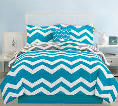 Teal King Size Comforter Sets Amazon Com 6 Piece Cal King Chevron Teal Comforter Set Home