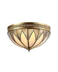 Flush Ceiling Lights For Kitchens Decoration Ideas Gorgeous Rustic Brass Glass Flush Mount Ceiling