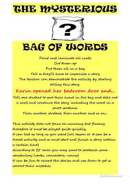 esl printable word games for adults mysteryous bag of words worksheet free esl printable worksheets