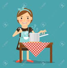 femme dans la cuisine la cuisine de mère femme de cuisson dans la cuisine mode
