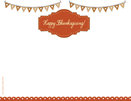 free thanksgiving letterhead happy thanksgiving border clip art 49