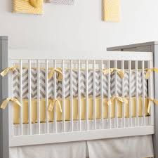 gray and yellow zig zag crib bumper carousel designs