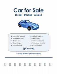 car for sale flyer office templates
