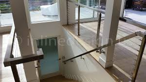 Stainless Steel Banister Rail Duane Ca Modern Stainless Steel Cable And Glass Railing