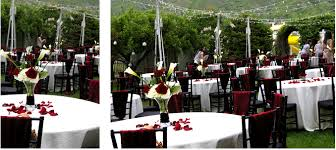 red rose white calla lily red white black wedding centerpiece utah