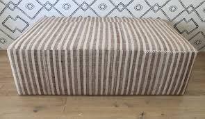 topanga ottoman upholstered w striped kilim u2013 shoppe by amber