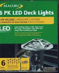 Malibu Solar Fence Lights by Malibu Lighting Decorative Deck Light 6 Pack Amazon Com