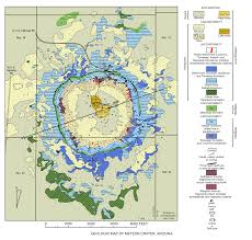 City Map Of Arizona by Guidebook To The Geology Of Barringer Meteorite Crater Arizona