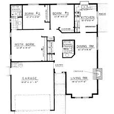 3 Bedroom Open Floor House Plans 3 Bedroom Bungalow Floor Plans 3 Bedroom Bungalow Design