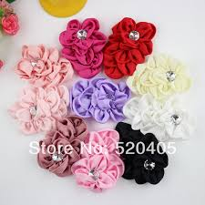 flowers for headbands aliexpress buy flowers eyelet chiffon lace flower flat