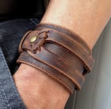 leather wrist bracelet images Cuff bracelet antique men 39 s brown leather cuff bracelet leather jpg