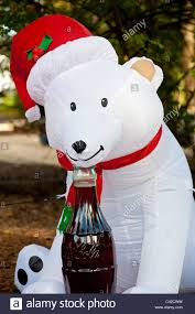 coca cola polar bear inflatable christmas holiday decorations in