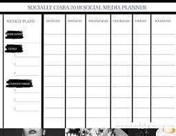 social media planner socially ciara