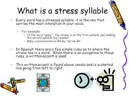 spanish accents and stress syllables ppt video online download