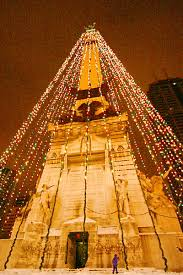 Indianapolis Circle Of Lights Indianapolis Monument Circle Worlds Tallest Christmas December 2004