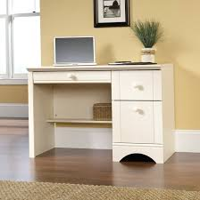 Sauder Harbor View Computer Desk With Hutch Antiqued White Sauder Harbor View Computer Desk With Hutch Antiqued White Desk