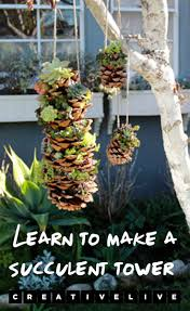 diy project make a gorgeous hanging succulent tower