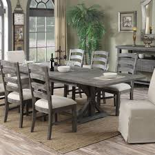 paladin wood rectangular dining table in charcoal by emerald home