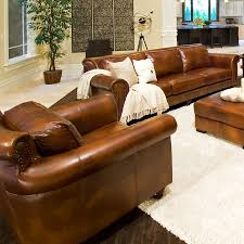 Leather Sofa Co Paladia 5 Leather Sofa Set In Rustic Brown Dcg Stores