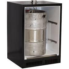 Full Size Kegerator Marvel 24 Inch Left Hinge Twin Tap Beer Dispenser Kegerator