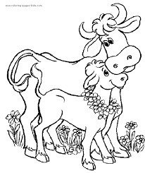 coloring page coloring pages cows cute cow page for cartoon