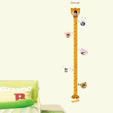 animal height measurement growth chart metric for children animal height measurement growth chart metric for children removable home decoration wall sticker