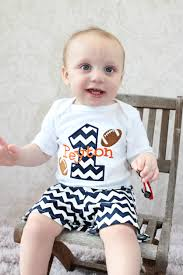 Baby Boy Football Clothes Personalized Baby Boys First Birthday Football