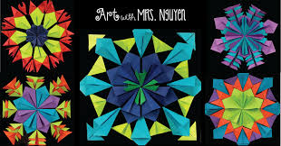 radial paper relief sculptures 4th 5th art with mrs nguyen