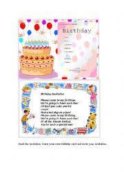 english worksheets birthday invitation an exampleof a card a