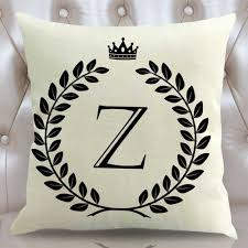 Home Letters Decoration by Online Get Cheap Letters Alphabet Pillow Aliexpress Com Alibaba