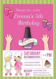 spa birthday invitation template 28 images spa invitation