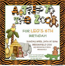 a trip to the zoo safari invitation wild jungle animals party