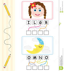 word game for kids u0026 moon royalty free stock images image