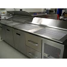 commercial pizza prep tables commercial kitchen prep table grate and pan system northern pizza