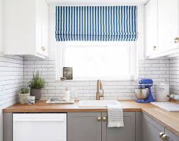 Striped Roman Shades A Semihandmade Kitchen Makeover U2013 Hommemaker