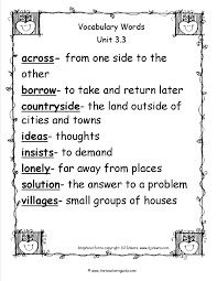 friendly letter template 2nd grade wonders second grade unit three week three printouts second grade wonders unit three week three vocabulary words