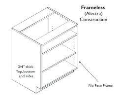 framed vs frameless cabinets frameless kitchen cabinet framed and cabinets diy ramanations com