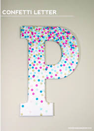 Ginger Home Decor by Diy Wall Art Confetti Letter Homemade Ginger Make Some By