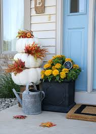Fall Decorating Ideas For Front Porch - cheery fall front door decorations the home depot blog