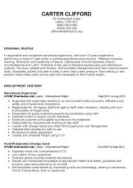 Warehouse Distribution Resume Sample Resume For Warehouse Supervisor Inventory Supervisor
