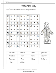 free veterans day worksheets worksheets