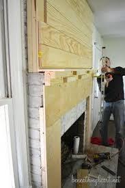 How To Build Fireplace Surround by How To Build A Wood Mantel Fireplace Shelves Mantels And Shelves