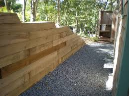 retaining wall lights under cap timber pole retaining wall ideas farmhouse design and furniture