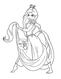 tangled rapunzel coloring kids disney princess coloring